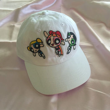 Powerpuff Girls Baseball Cap / Hat // embroidered
