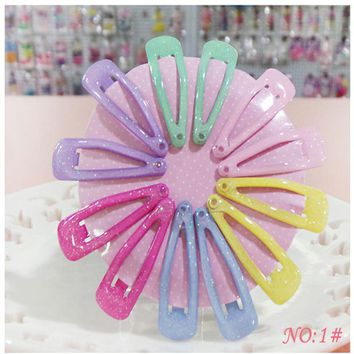 Cute Korean Hair Clip Flower Girls Solid Small BB Hairpins Handmade Resin Haar Accessoires Headband Princess Gift 12 Pcs