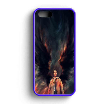 Supernatural Castiel Wings Galaxy  iPhone 5 Case iPhone 5s Case iPhone 5c Case