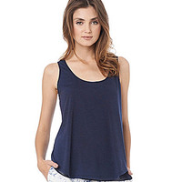 Sam Edelman Cross-Back Double-Layer Tank - Midnight
