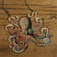 Octopus Necklace by mamaslittlebabies on Etsy