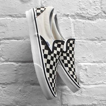 Vans Classic Slip-On Checkerboard Black / White Sneaker