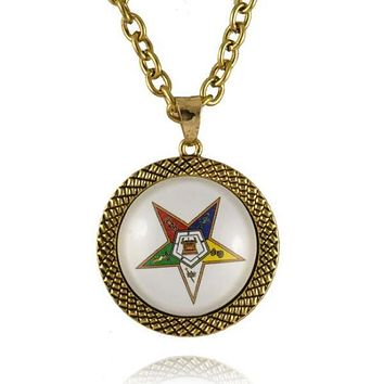 The Order of the Eastern Star OES Round Necklace
