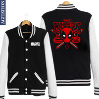 Deadpool Marvel Baseball Jacket