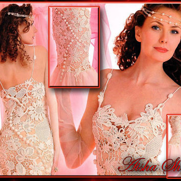 Crochet Patterns eBook Irish Lace Dresses Tops Blouses Skirts Jacket Tops Hat Wedding Women Fashion Magazine Diagram FREE SHIPPING - JMEDE