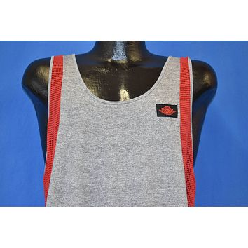 80s Nike Air Jordan Red Mesh Tank Top t-shirt Large