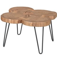 Adele Coffee Table Acacia Wood Iron