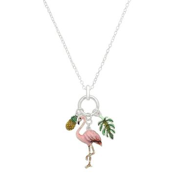 Flamingo Pineapple and Palm Necklace