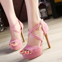 Eu 34-39 Dance with me Summer Platform High Heel Shoes SP152340