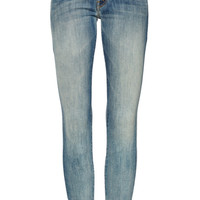 Mother Denim The Looker Cropped Skinny Jeans Blue
