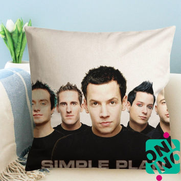 Simple Plan Band Zippered Pillow Case, Cushion Case, Pillow case