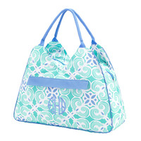 Sea Tile Monogrammed Beach Bag