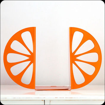 Bookends Orange laser cut for precision by DesignAtelierArticle