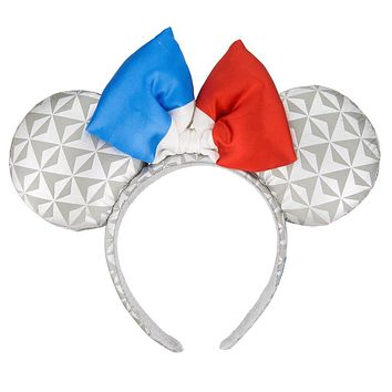 Disney Parks Epcot France Flag Minnie Mouse Ears Headband New with Tags