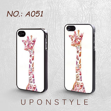 Phone Cases, iPhone 5 Case, iPhone 5s Case, iPhone 4 Case, iPhone 4s case, Giraffe, Interesting, iPhone Case, Case for iphone, Case No-051