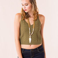 Danbury Crop Top in Olive