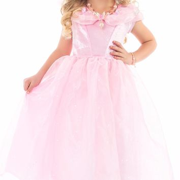 Little Adventures Deluxe Pink Butterfly Princess Dress
