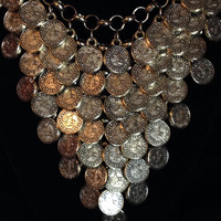 Turkish Bohemian Coin Statement Necklace