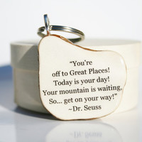 Dr Seuss key chain graduation gift key lag key by starlightwoods