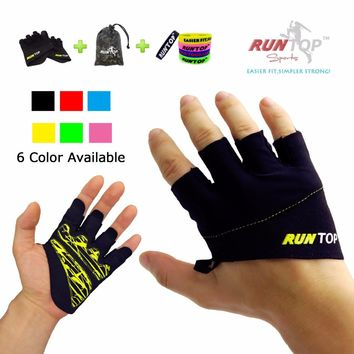 RUNTOP Workout Grip Gloves Crossfit WODS Fitness GYM Yoga Exercise Weight Lifting Powerlifting Training Hand Palm Protect Women