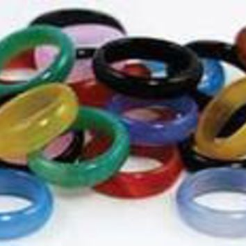 6mm Rounded Agate rings 20/bag