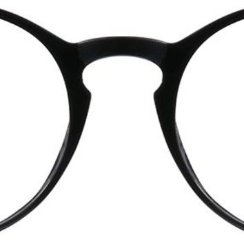 Black Ultra Thin Round Glasses #7808321 | Zenni Optical Eyeglasses