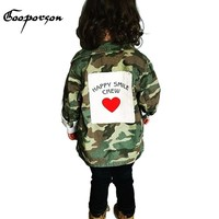 Trendy GOOPORSON Baby Girl Jacket Long Sleeve Autumn Girls Army Jacket Coat With Heart Fashion Outerwear For Kids Baby Winter Clothes AT_94_13