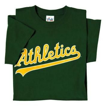 Oakland A's (Athletics) (ADULT MEDIUM) 100% Cotton Crewneck MLB Officially Licensed Ma
