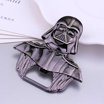 High Quality Openers For Kitchen Tools Star Wars Darth Vader Alloy Beer Bottle Opener Keychain Jewelry Toy