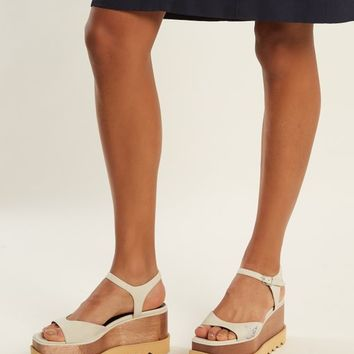 Elyse faux-leather platform sandals | Stella McCartney | MATCHESFASHION.COM US