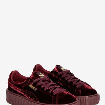8f39caa63590 Puma x Rihanna Rebel Velvet Creeper Sneaker - Royal