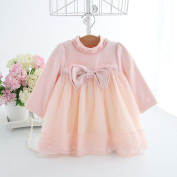 Winter Clothes Baby Girl Dress Ball Gown for Kids Christening Wedding Party Princess Dresses Toddler Girls Clothes with Big Bow