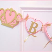 Princess Banner, Princess Birthday Decorations