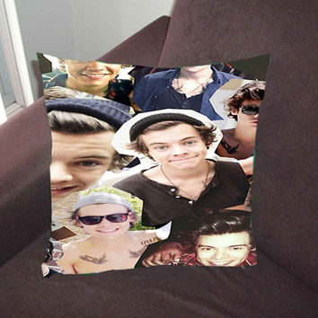 harry styles collage - Pillow Case, Pillow Cover, Custom Pillow Case *02*