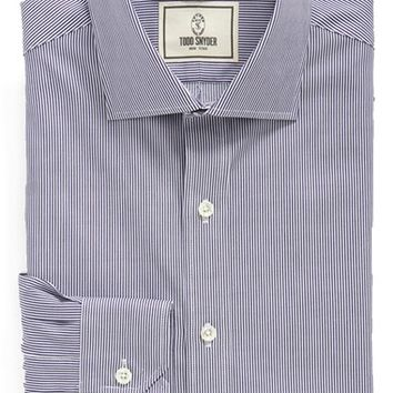 Todd Snyder White Label Trim Fit Stripe Dress Shirt,