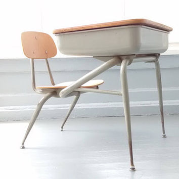 Desk and Chair, Kids Desk and Chair, Vintage, Home Decor, Kids room Furniture