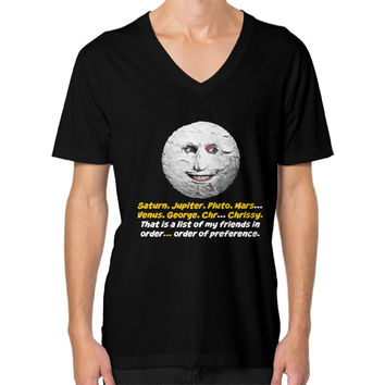 Mighty boosh the moon V-Neck (on man)