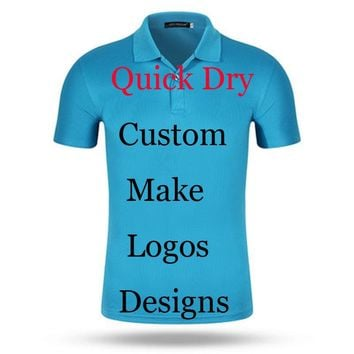 Custom Print Logos Name Quick Dry polo shirts Embroidery Heat Transfer Digital Print 100% Poly Breathable perspiration Polos Men