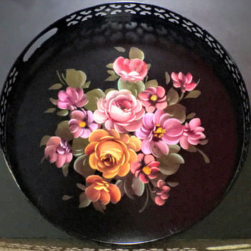 Vintage Serving Tray One of a Kind Hand Painted at the Philadelphia Fine Art Studio