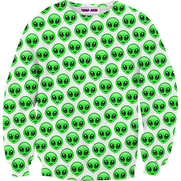 ALIEN EMOJI SWEATER