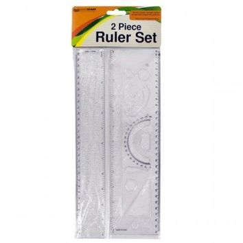 Alphabet & Number Stencil Ruler Set (pack of 24)