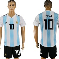 2018 world cup Argentina MESSI home Soccer Jersey