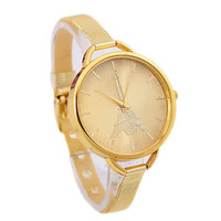 Womens Eiffel Tower Casual Sports Watches Girls Gold Alloy Strap Wrist Watch Best Christmas Gift