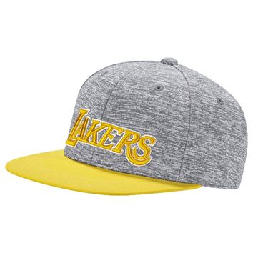 adidas Originals Men's NBA SBC LA Lakers Snapback Baseball Cap Basketball Grey