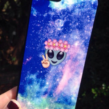 Iphone 6 Phone Case Emoji Alien Print Hipster Phone Cover
