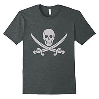 Pirate Flag Symbol Flag Black T-shirt Swords