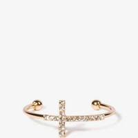 Rhinestone Cross Cuff