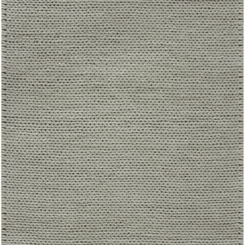 Fargo Collection 100% New Zealand Wool Braided Area Rug in Dove Grey design by Surya