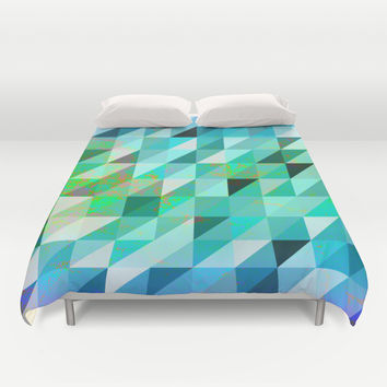 In and Out Duvet Cover by Miss L In Art