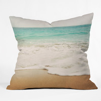 Bree Madden Ombre Beach Outdoor Throw Pillow